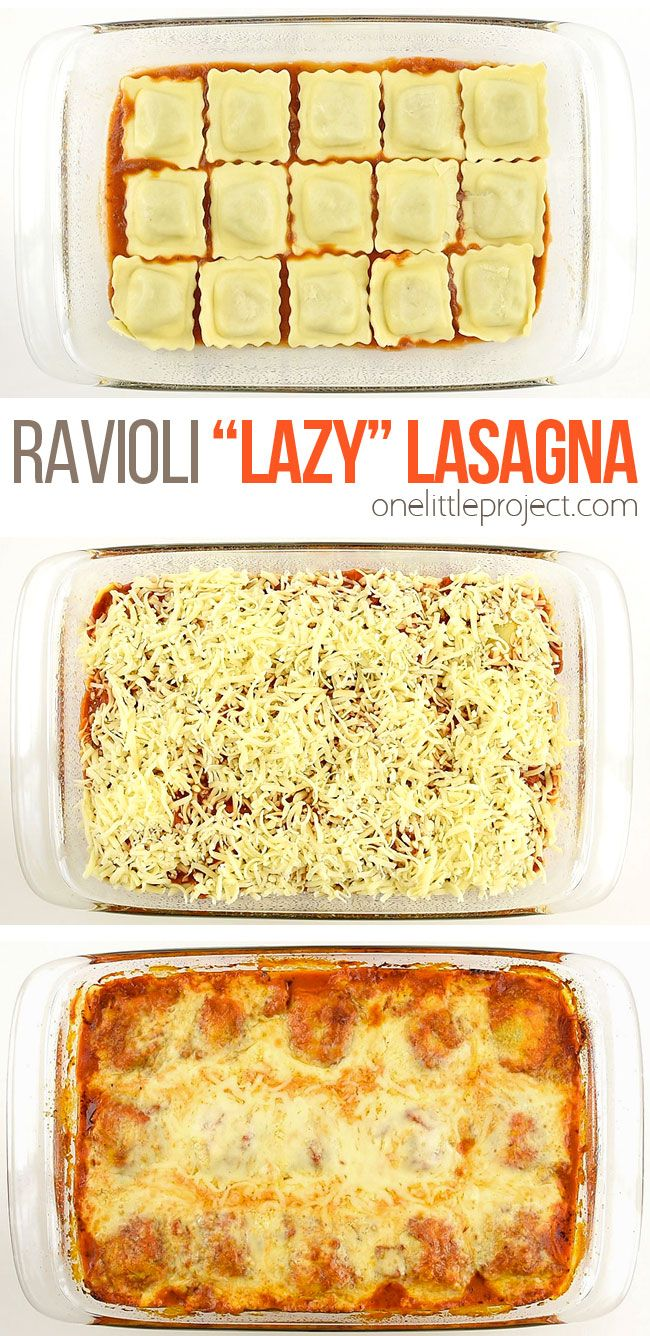 Photo of Lazy Lasagna with Baked Ravioli   Easy Ravioli Lasagna Recip…