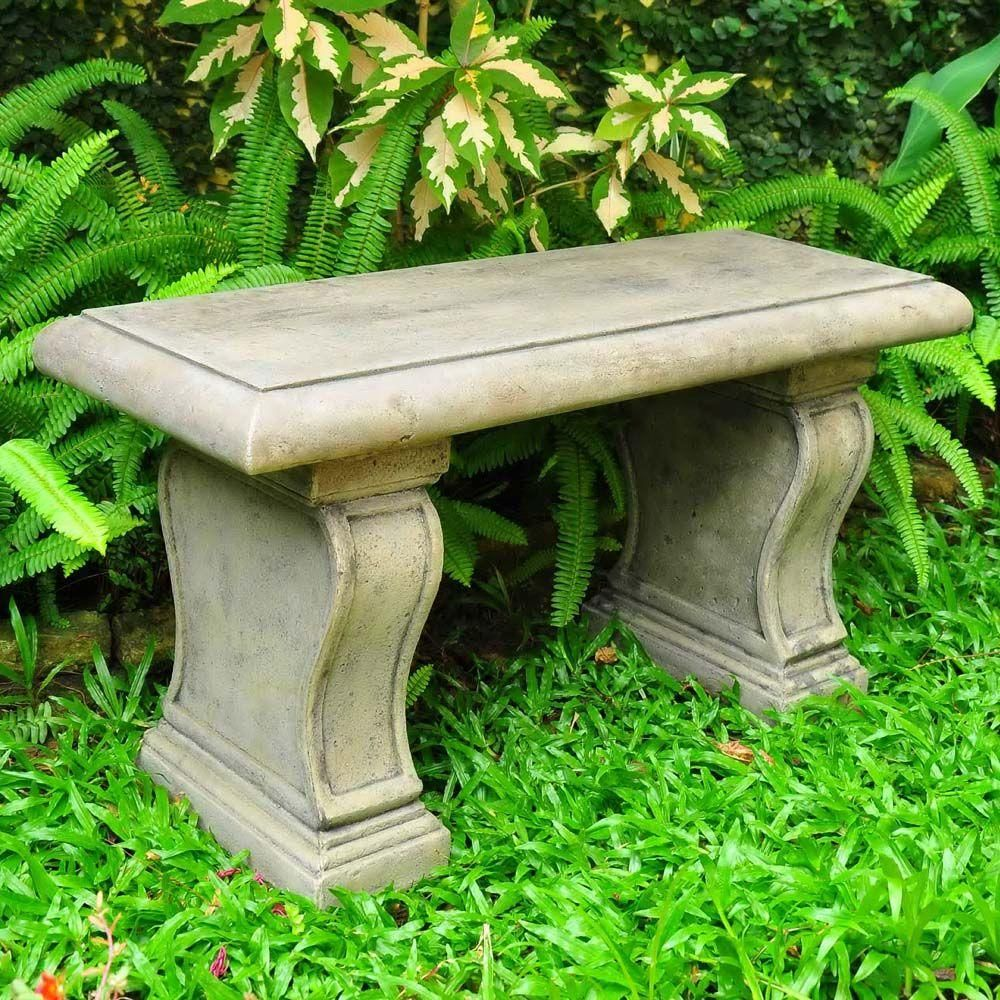 English Garden Granite Patio Bench-PS6644SAG - The Home Depot ...