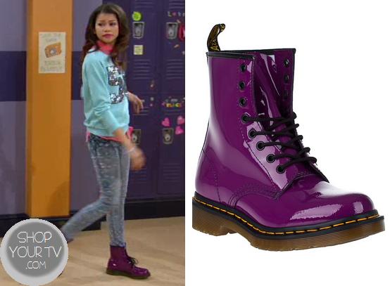 Shake it Up: Season 3 Episode 19 Rocky's Purple Lace up Boots ...