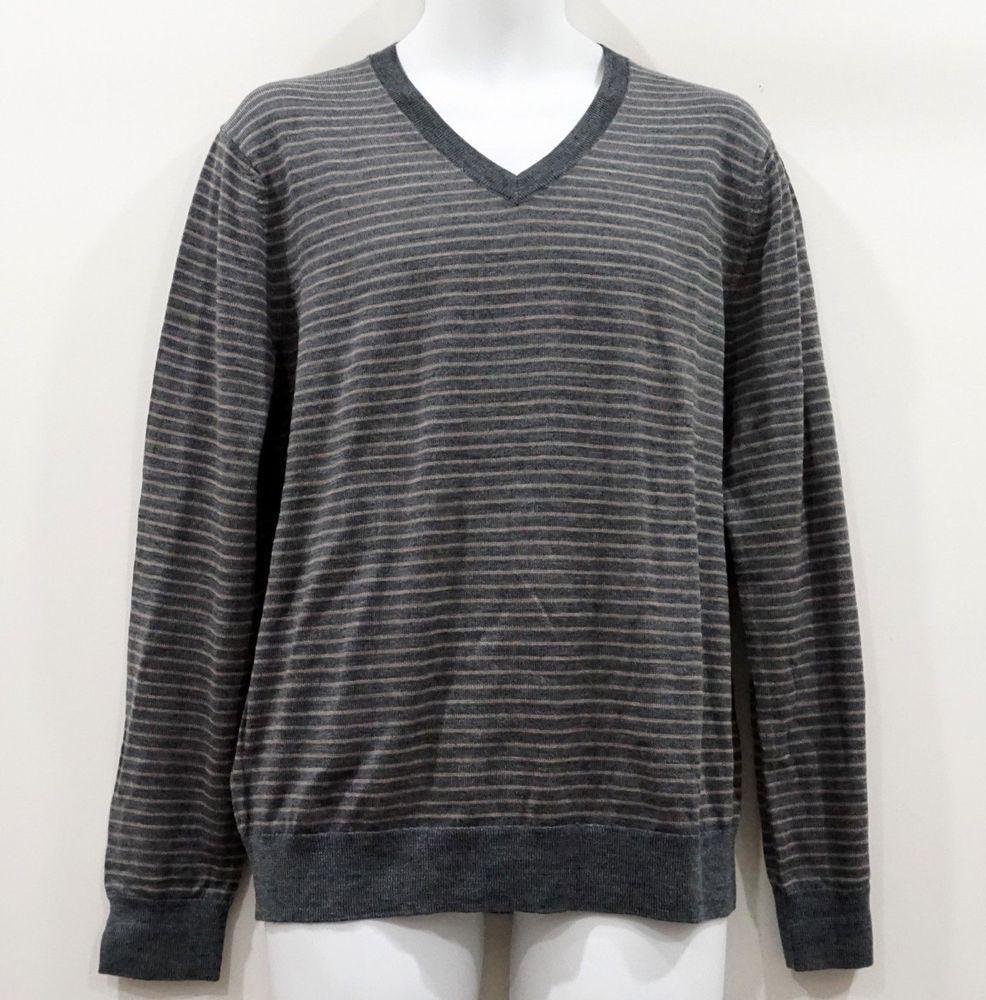 Banana Republic Men S Striped Gray V Neck Merino Wool Sweater Size L Nwt Bananarepublic Vneck Sweater Sizes Sweaters Vneck Sweater [ 1000 x 986 Pixel ]