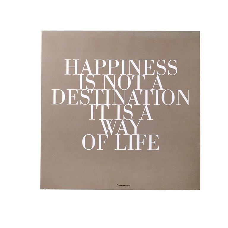 Mesaj motivational  Happiness  Camel/Alb Lemn 15047
