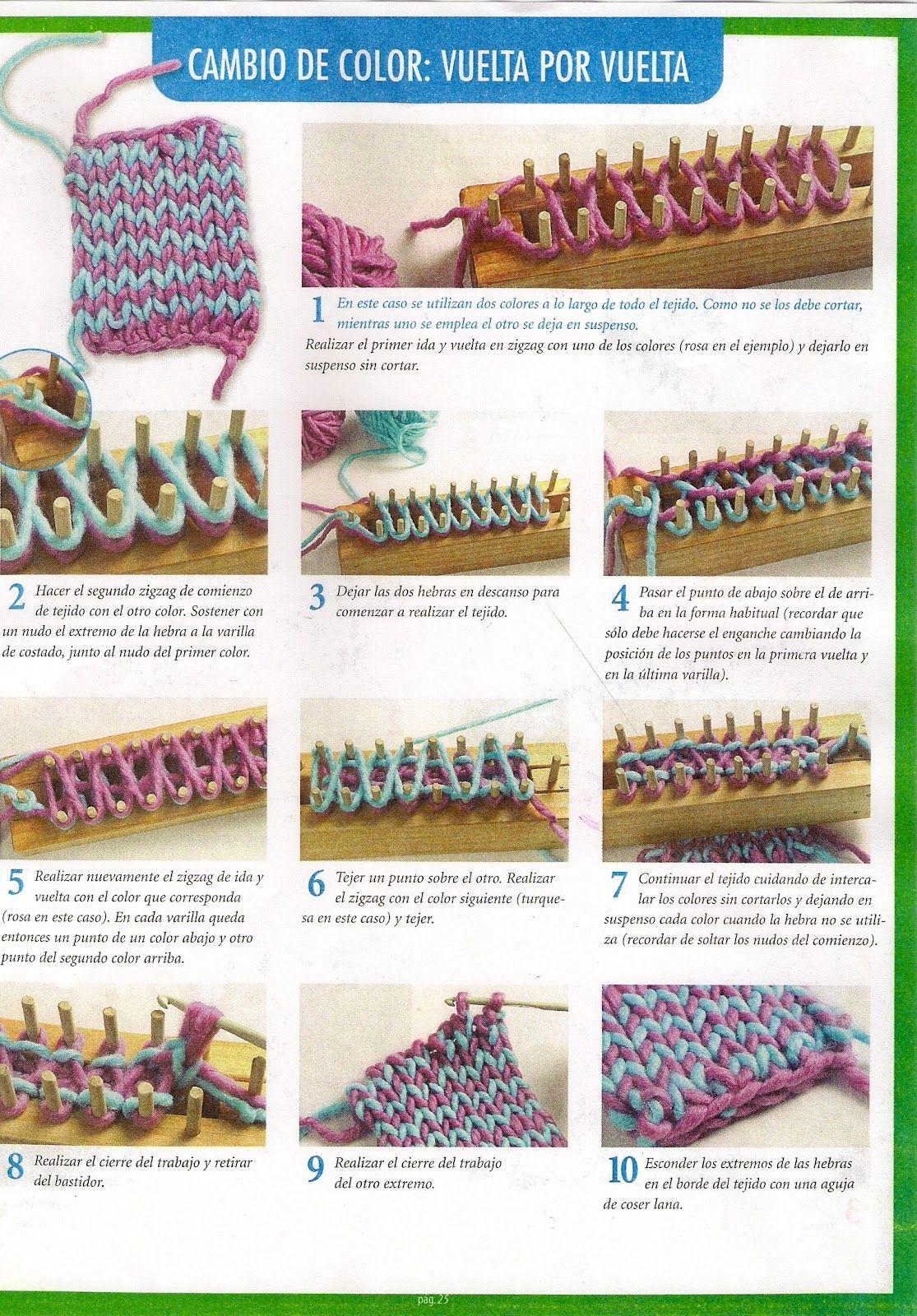 tejidos a telar, | ideas | Pinterest | Loom Knitting, Knitting y Loom
