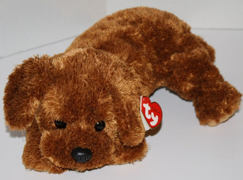 "Ty Classic Dobbs the Dog Brown Copper Floppy Lab Puppy 12"" Plush 2007 MWMT #Ty #TyClassic #DobbsTheDog #StuffedAnimal #SoftToy"