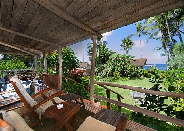 Ocean View From The Lanai Of Our Koi Pond Cottage In Haleiwa