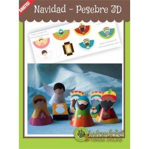 6841c0a5453 Navidad - Pesebre 3D Gratis
