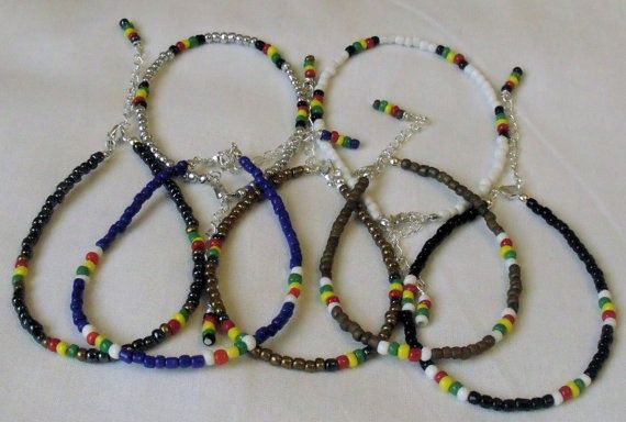 Handmade Glass Seed Bead Anklets Various Colours /& Sizes