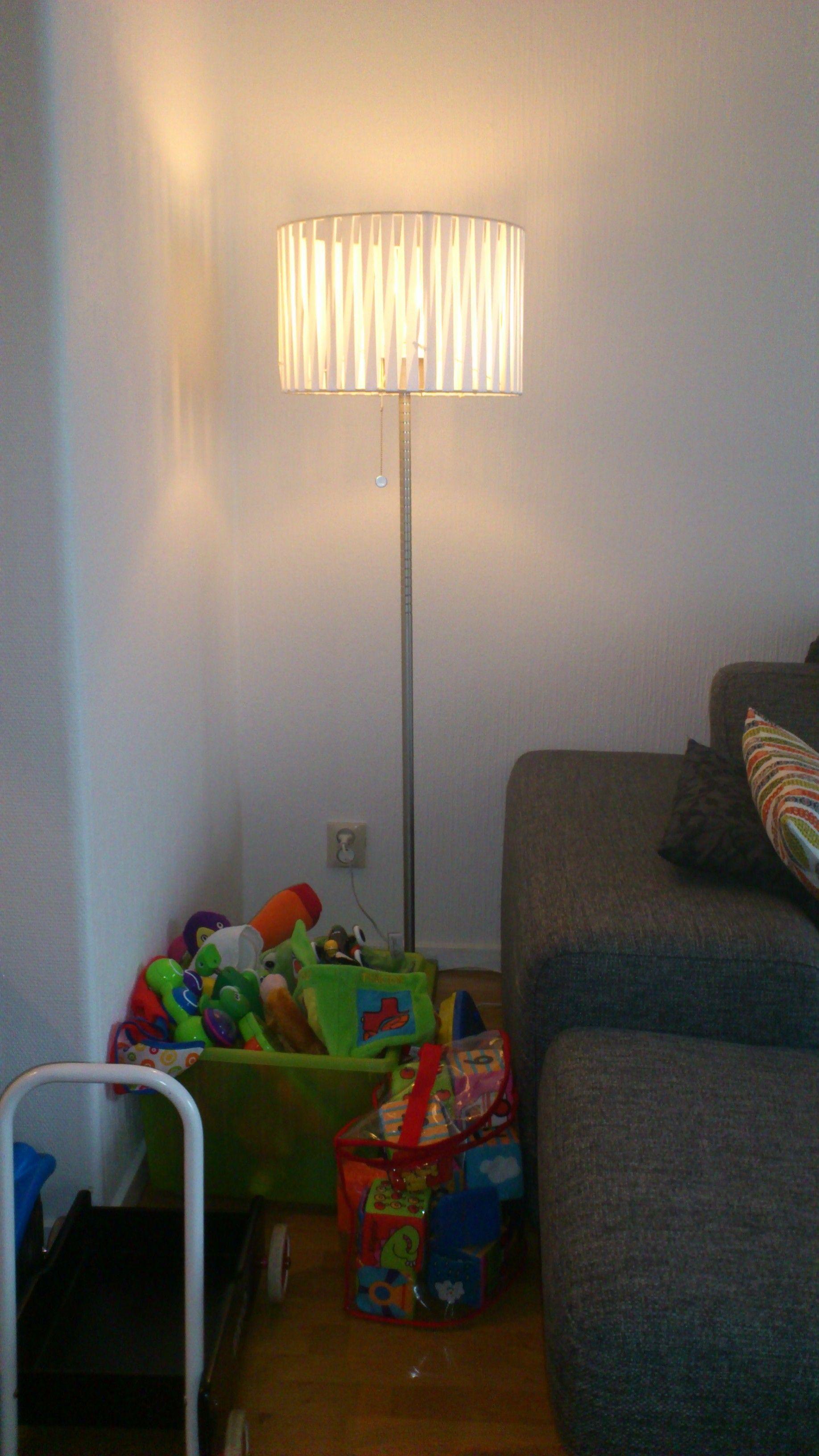 Lampskärm med lindat sidenband. DIY