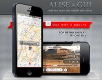Alise iPhone GUI Pack / for Retina Display
