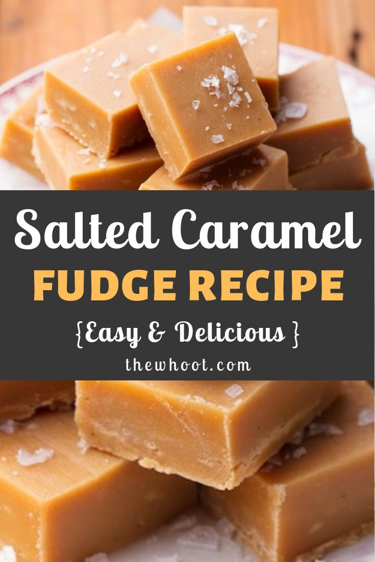 Salted Caramel Fudge Recipe Video Instructions | The WHOot
