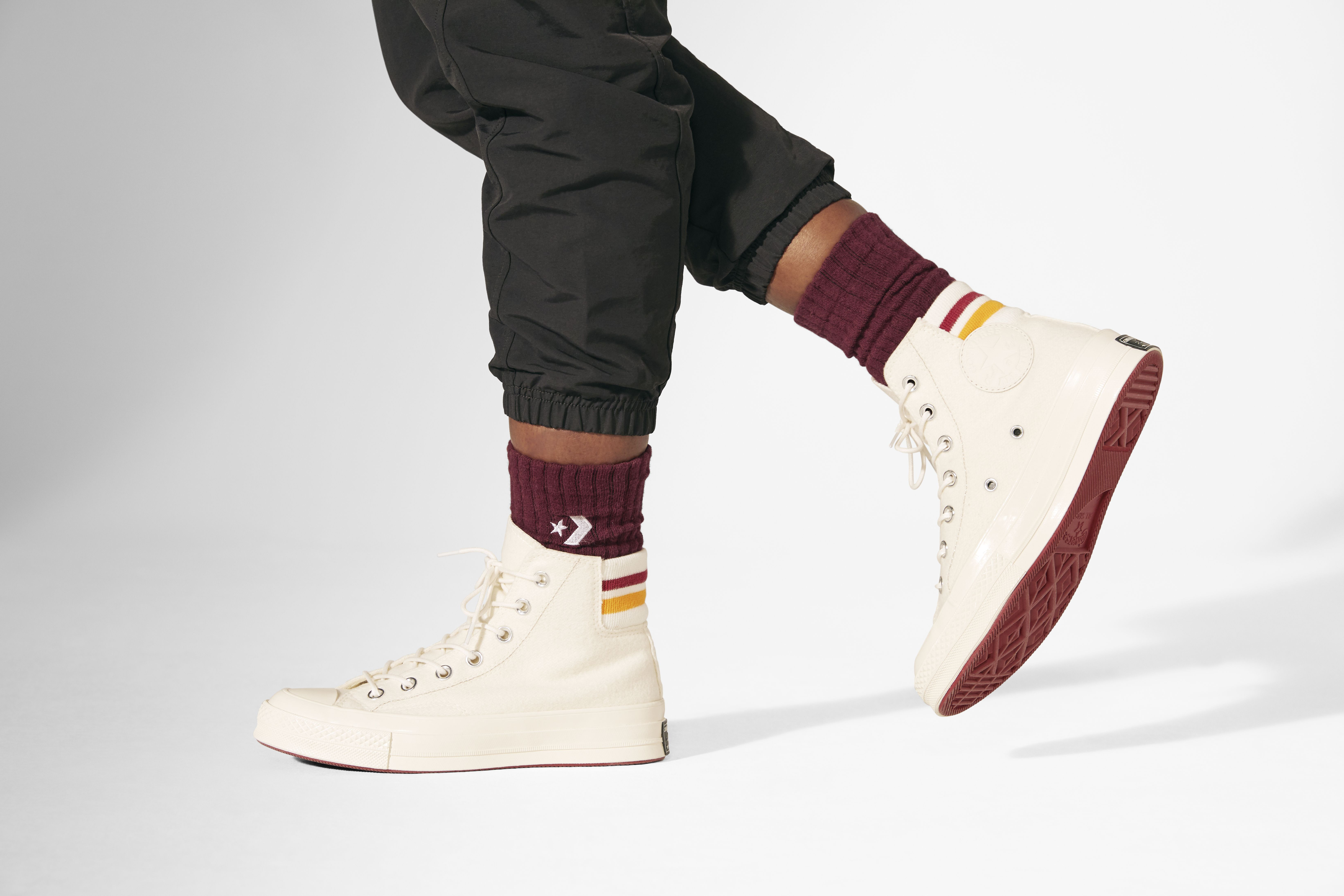 Smart in style and function, the Chuck 70 Retro Stripe High