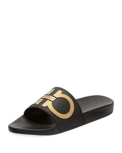 a35f4a0610b117 Salvatore Ferragamo Groove Gancini Pool Slide Sandal | Products in ...