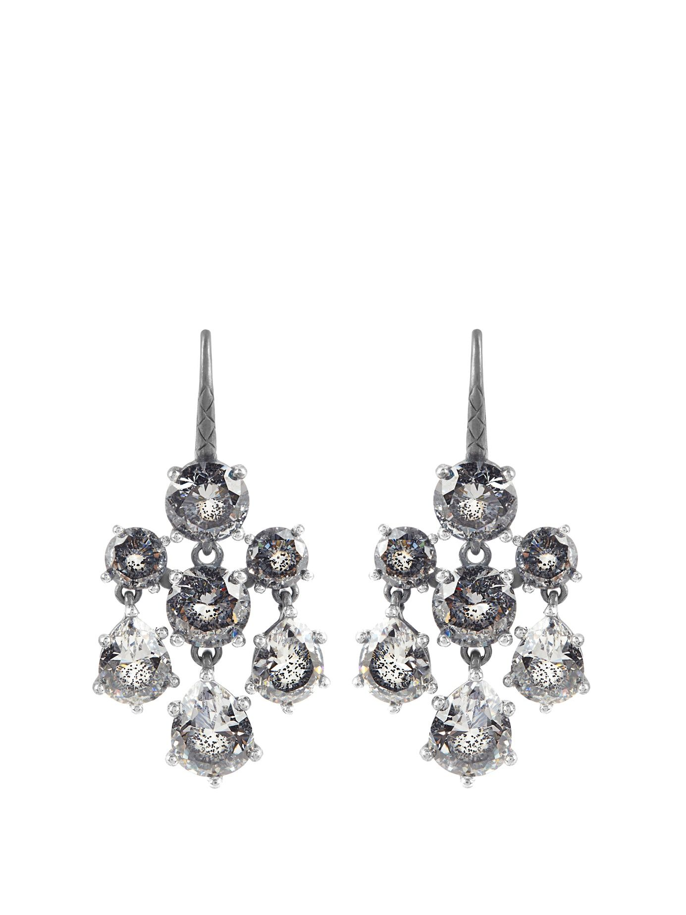 Cubiczirconia And Silver Chandelier Earrings  Bottega Veneta   Matchesfashion Uk