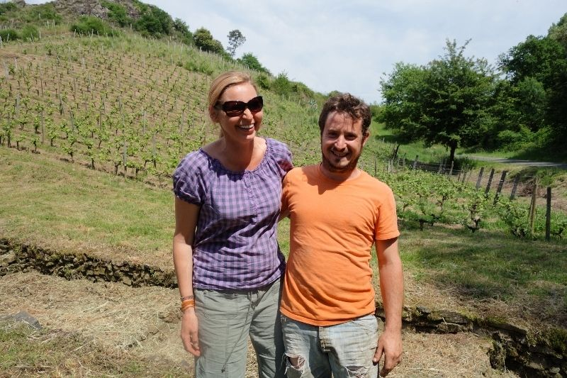 Wendy and Joseph Paille of Domaine Pithon-Paille, Loire Valley #womeninwine #women #winemakers