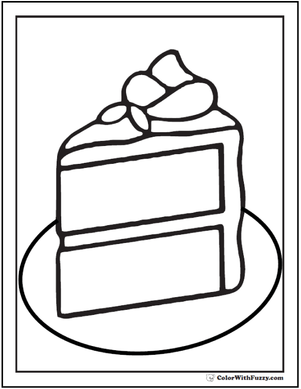 20 Cake Coloring Pages Customize Pdf Printables Colorful Cakes Color Cake