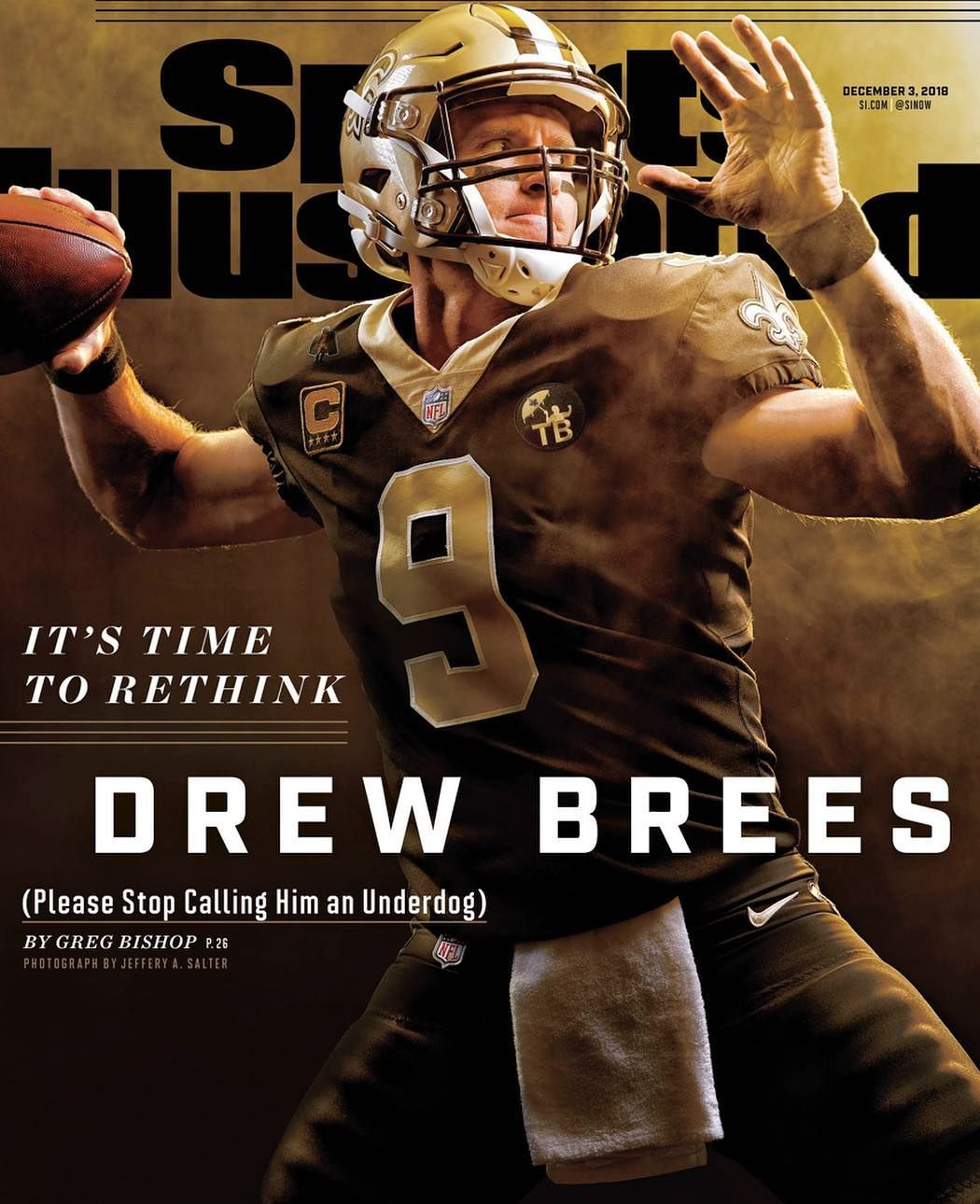 Drew Brees On The Cover Of Sports Illustrated Sports Illustrated Covers Si Cover Sports Illustrated