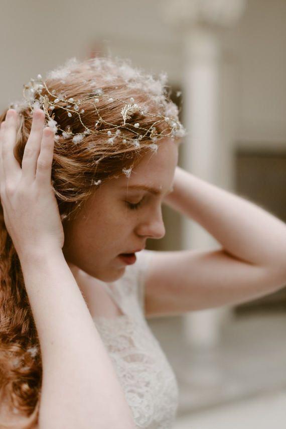 Wedding Aria crown bridal headpiece hairvine