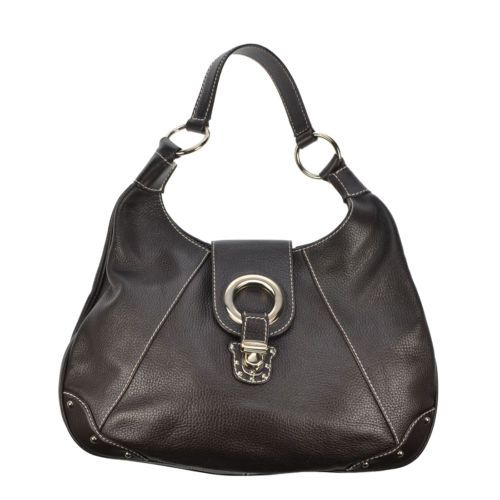 Dolce and Gabbana Chocolate Brown Hobo Shoulder Bag Authentic Preowned | eBay