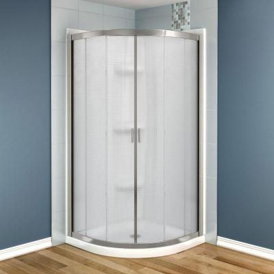 Neo Round Shower Kit In Chrome With Mistelite Glass, Base And Walls In  White, At The Home Depot   Mobile