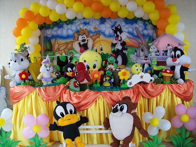 Decoraciónes de fiestas infantiles de baby looney tunes - Imagui ...