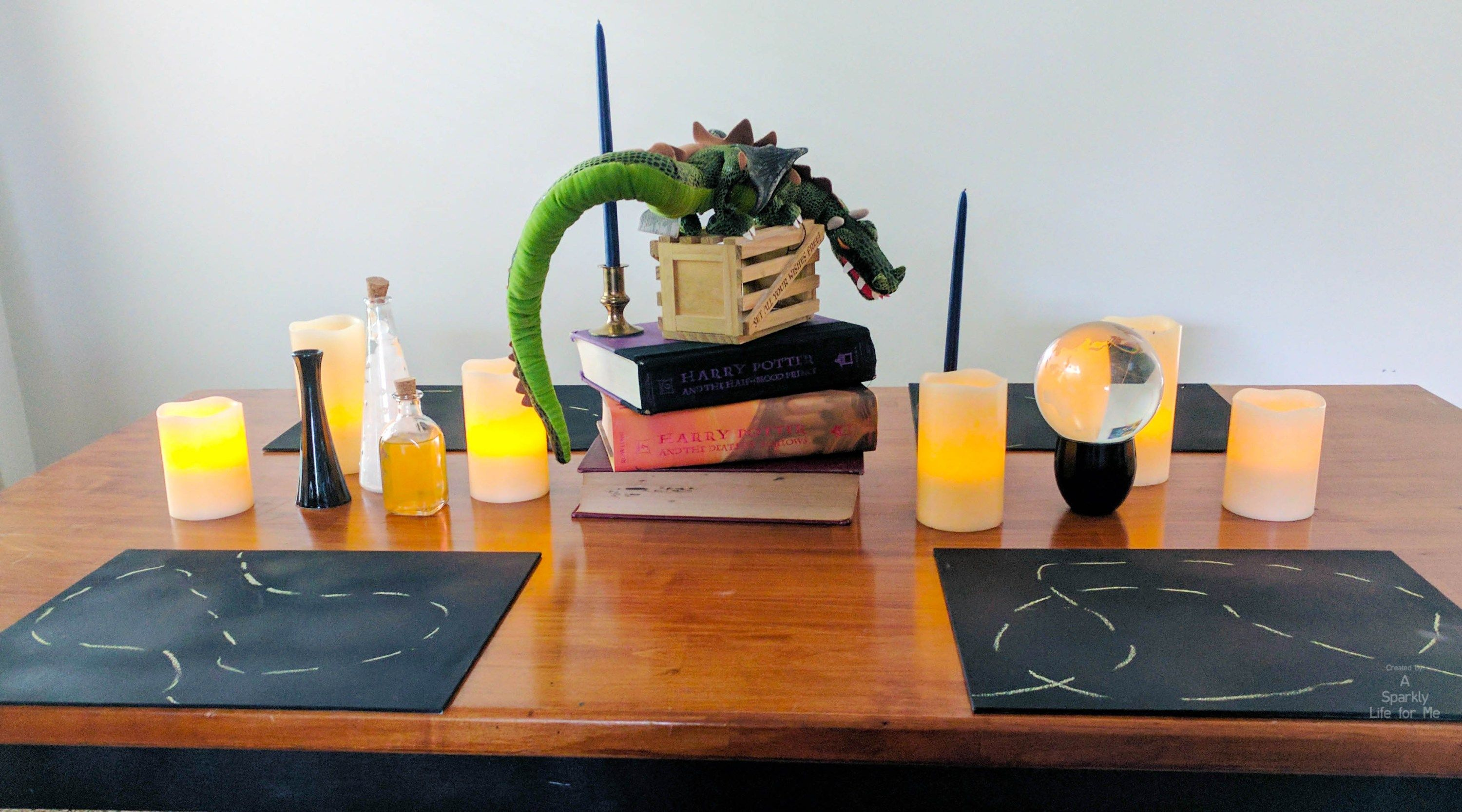 harry potter table decor and centerpiece Things I\u0027ve Made - Halloween Table Decorations Pinterest