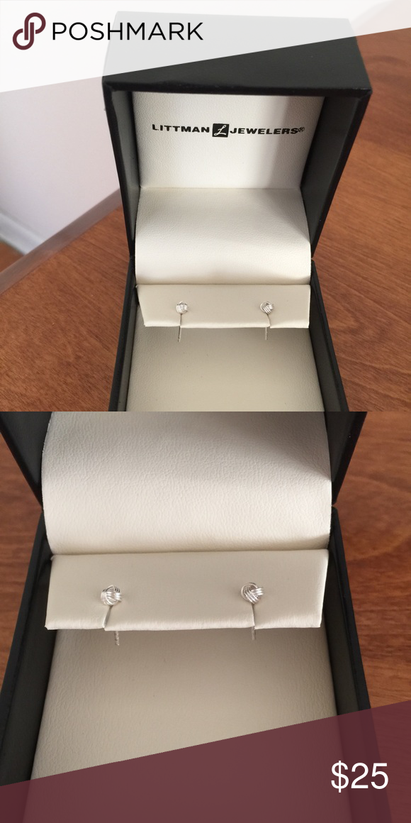 Littman Jewelers earrings Sterling silver knot style earrings. About the size of a pin head. New! Jewelry Earrings