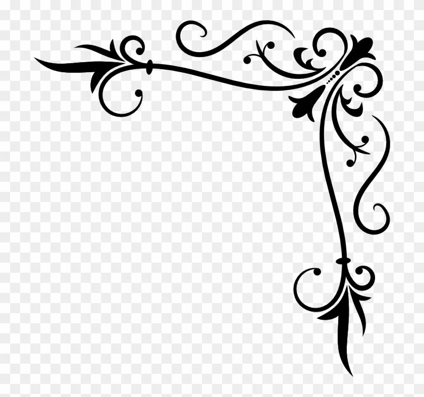 Filigree Corner Png Corner Clip Art Png Transparent Png Is Best Quality And High Resolution Which Can Be Used Personally Or Non Clip Art Png Corner Designs