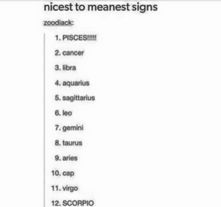 meanest astrology signs