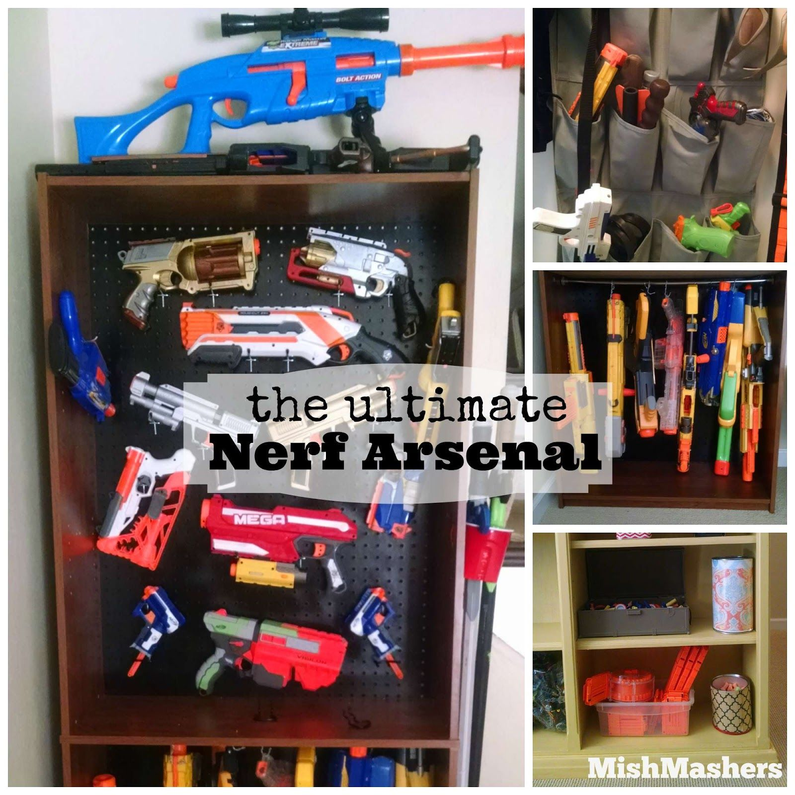 My house is filled with boys, and while they have been through a lot of  toys, Nerf has been a tried and true favorite. So we have A LO.