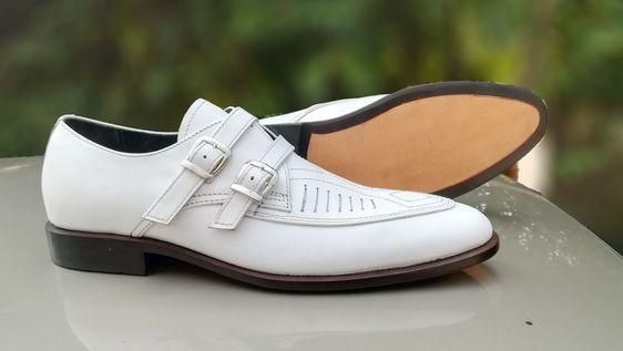 New Handmade Men's Leather Double Monk Shoes, Men's White Color Strap Stylish Shoes is part of Double monk strap shoes, Dress shoes men, Leather shoes men, Monk strap shoes, Leather dress shoes, Stylish shoes - concerns  We will be happy to resolve any issues you may have in a cordial and friendly manner    Seller Message  We take pride in designing and supplying premium quality leather products to our customers  We also specialize in creating custom designs   There may be a slight variation in color due to photography light effects and computer color resolution