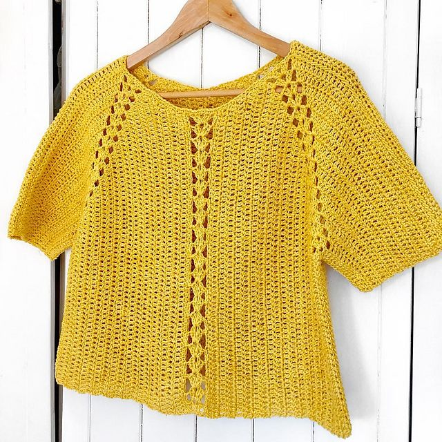 Ravelry Potterandblooms Yellow River Crochet Sweater