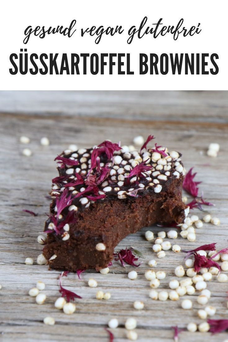 Healthy sweet potato brownies vegan gluten-free Mrs Flury recipe healthy baking vegan brownies glut