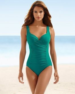 bae3faa7fd2 Soma Intimates Miraclesuit Ambrosia One Piece Swimsuit La Blanca Sweetheart  Swim Tankini Top #somaintimates