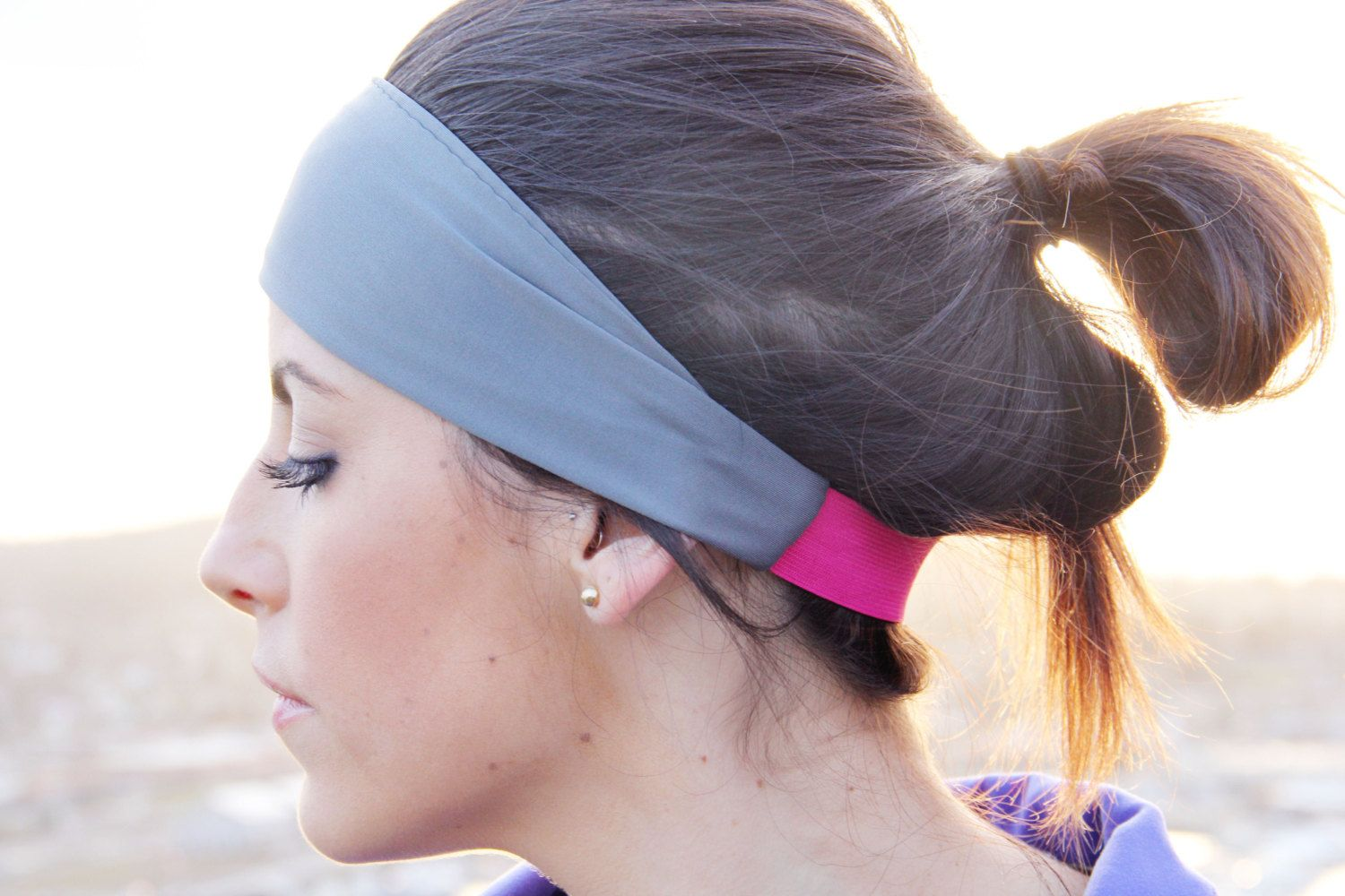 fithappy classic exercise headband in matte gray, perfect width