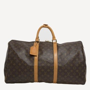 e947e277d Louis Vuitton Keepall Monogram Canvas 55 Brown Travel Bag. Save 46% on the  Louis