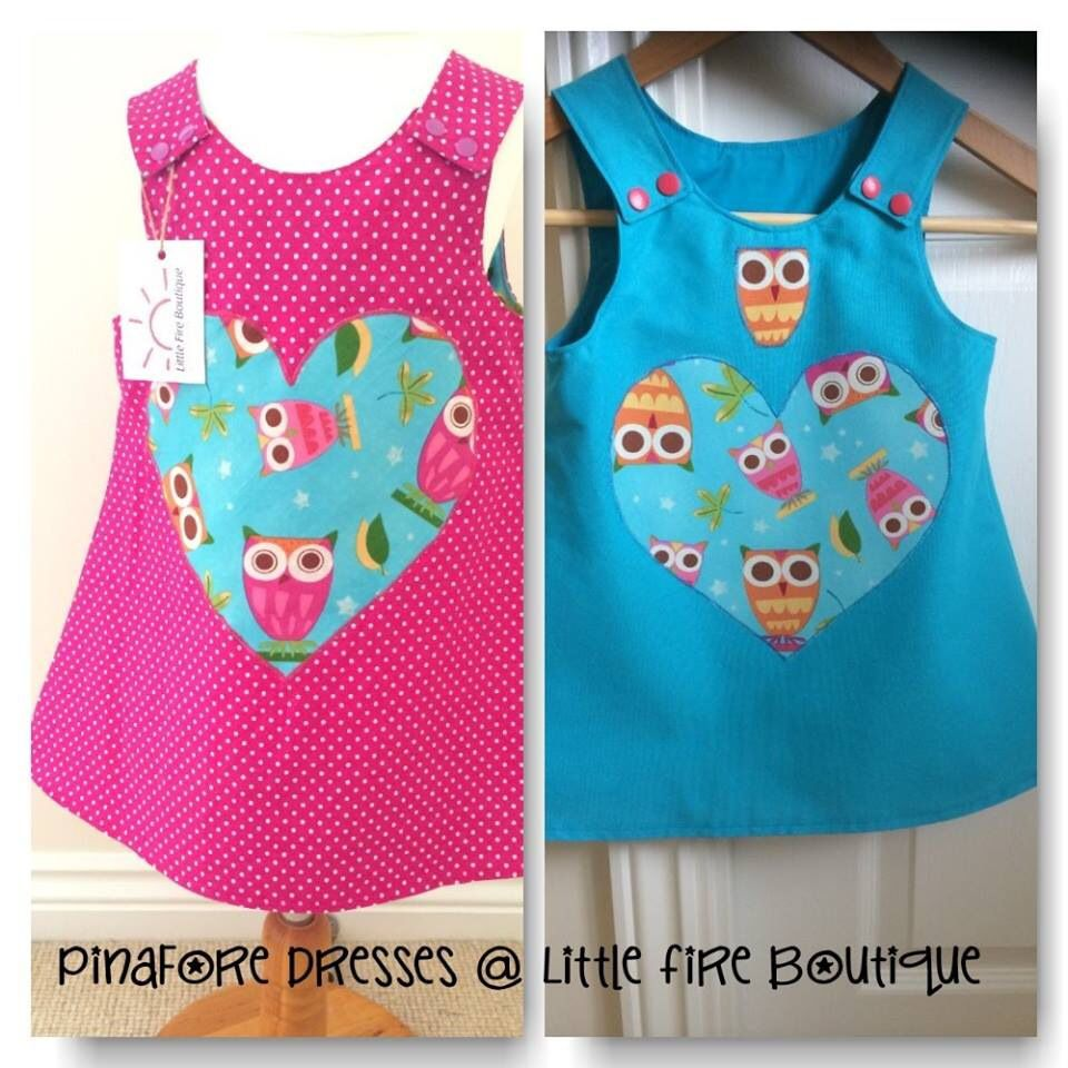 Pinafore dresses @ Little Fire Boutique