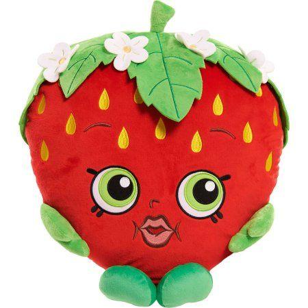 "Brand New 7/"" Shopkins Strawberry Kiss Plush Stuffed Toy NWT Licensed Kids"