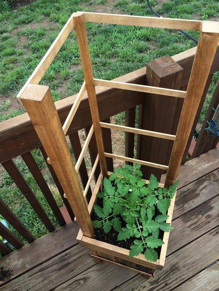 Build a garden grow box and trellis combo | DIY projects ... planter pallet trellis raised garde
