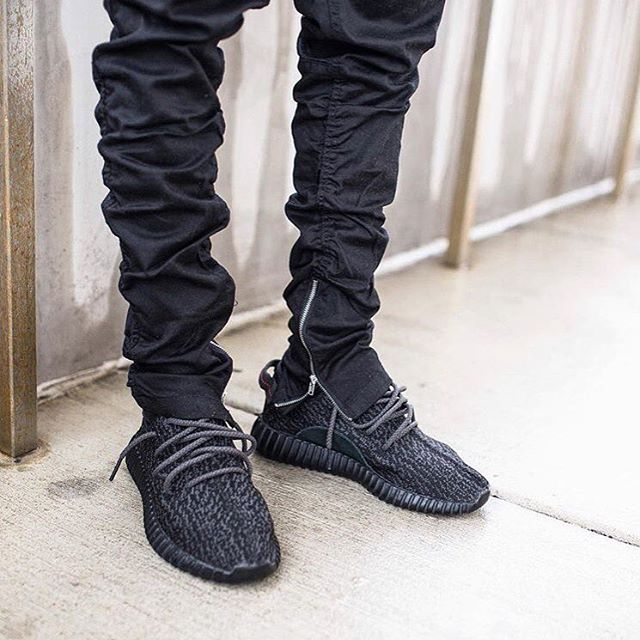Adidas Yeezy Boost 350 Black With Pants