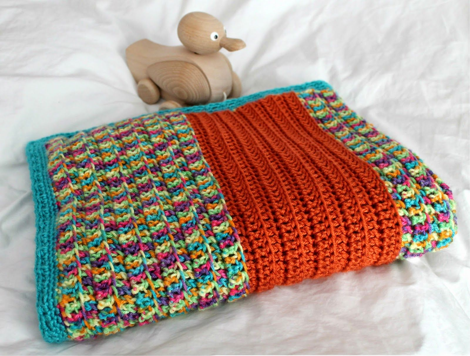 Couch Craft: Broad-Stripe Baby Blanket (with Pattern ...
