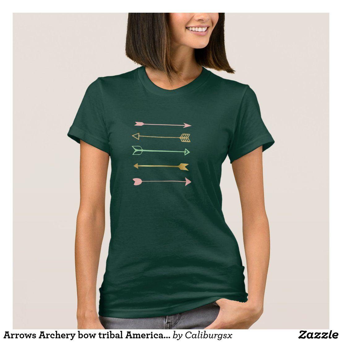 Arrows archery bow tribal american tattoo art indi tshirt