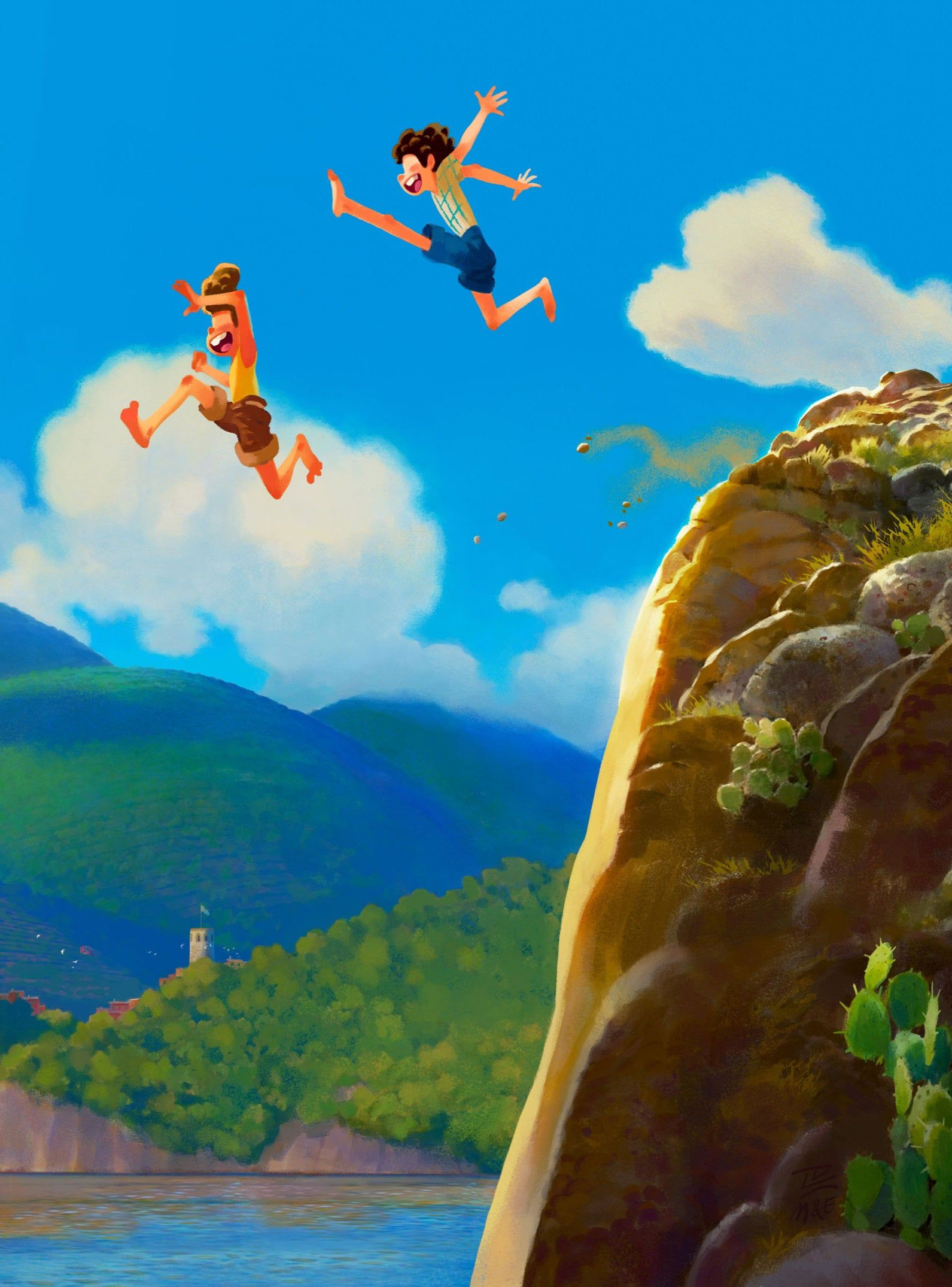 Disney Pixar S Luca Looks Like The Summer In Italy You Wish You Had This Year Disney Wallpaper Disney Fan Art New Animation Movies