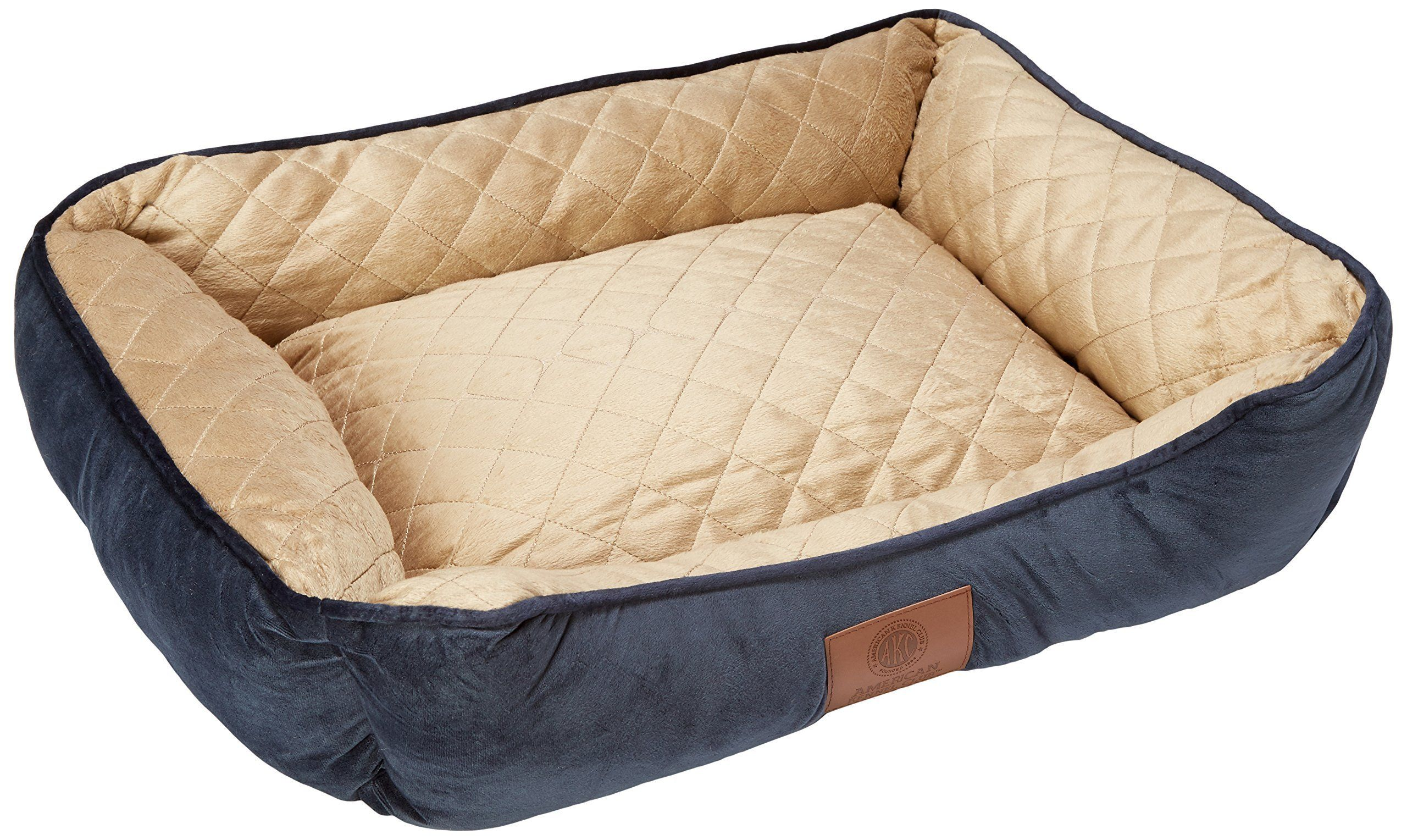 American Kennel Club Self Heating Solid Pet Bed Size 26x18x8 Navy