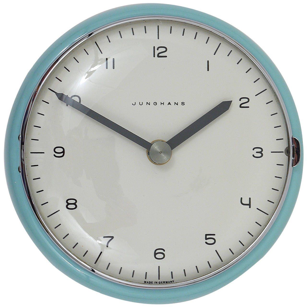 Rare round max bill modernist wall clock by junghans germany rare round max bill modernist wall clock by junghans germany 1950s amipublicfo Images