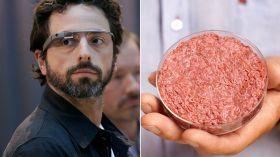 """O co-fundador da Google, Sergey Brin, vestindo seus óculos interativos, anunciou hoje o """"cultivo"""" do primeiro hamburguer de laboratório. Para criar a iguaria foi realizada uma cultura de fibras musculares a partir de células troco bovinas (artificialmente, como se sabe, não tem aquela gordurinha tão famosa). O argumento do bilionário da Google para..."""