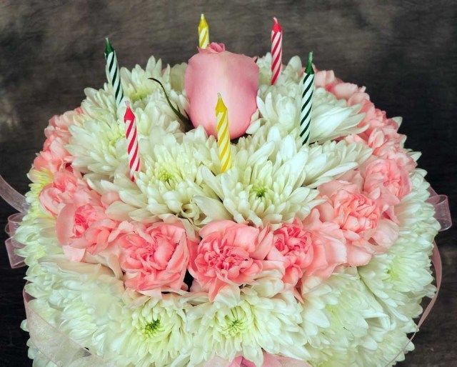 27 Creative Image Of Birthday Cake Flowers Floral Kremp BirthdayCakeImages