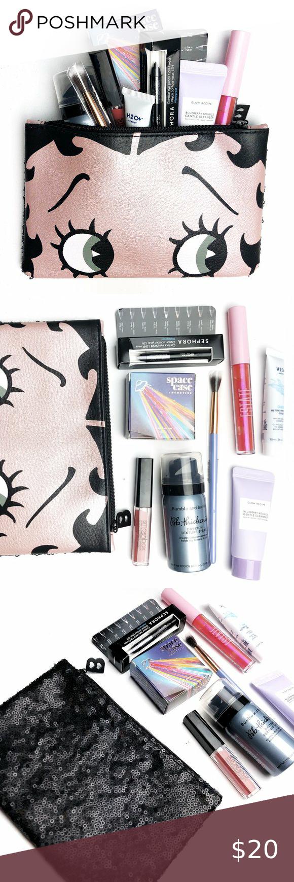 Ipsy Beauty Lot & Betty Boop Sequin Makeup Bag in 2020