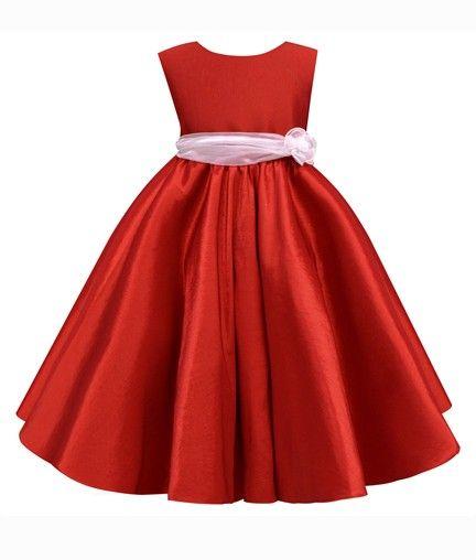 601a2a9b6 Vestido de fiesta para niña rojo | Vestidos nenas | Vestidos ...