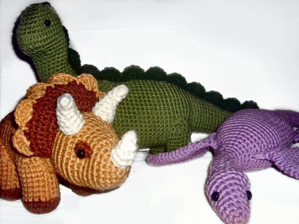 Dinosaur Trio | Tiere häkeln, Drachen und Spielzeug