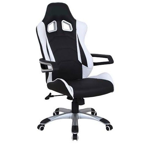 racing office chair - black and white - buy racing computer chair