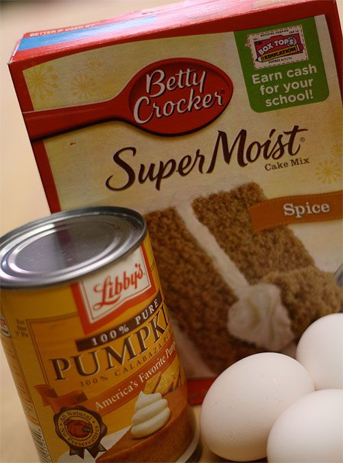 Easy Pumpkin Muffin Ingredients Cake Mix Muffins Cake Mix